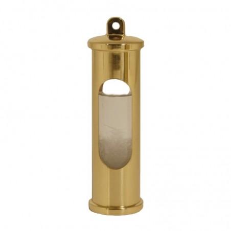<p>Hoogwaardig messing stormglas van het bekende en prachtige merk Delite! Het bijzondere stormglas werkt door een vloeistof in het glas wat reageert op aankomende heftige weersomslagen door te kristalliseren. Het stormglas dient vooral als aanvulling op de barometer en is zeer bijzonder! Deze wordt exclusief ophanghaak geleverd. <br /><strong>Afmetingen:</strong> 145 mm hoogte<strong> Materiaal:</strong> messing</p>