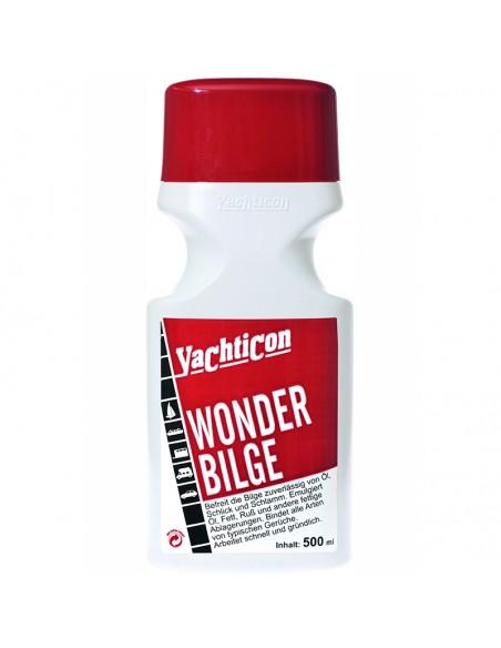 <p>De Wonder Bilge Reiniger van Yachticon verwijdert olie, slijk en vuil van de buik van het schip. Deze emulgeert olie, vet en vuil. Wonder Bilge reiniger van het merk Yachticion werkt snel en effectief. <br /><strong>Inhoud:</strong> 500 ml</p>