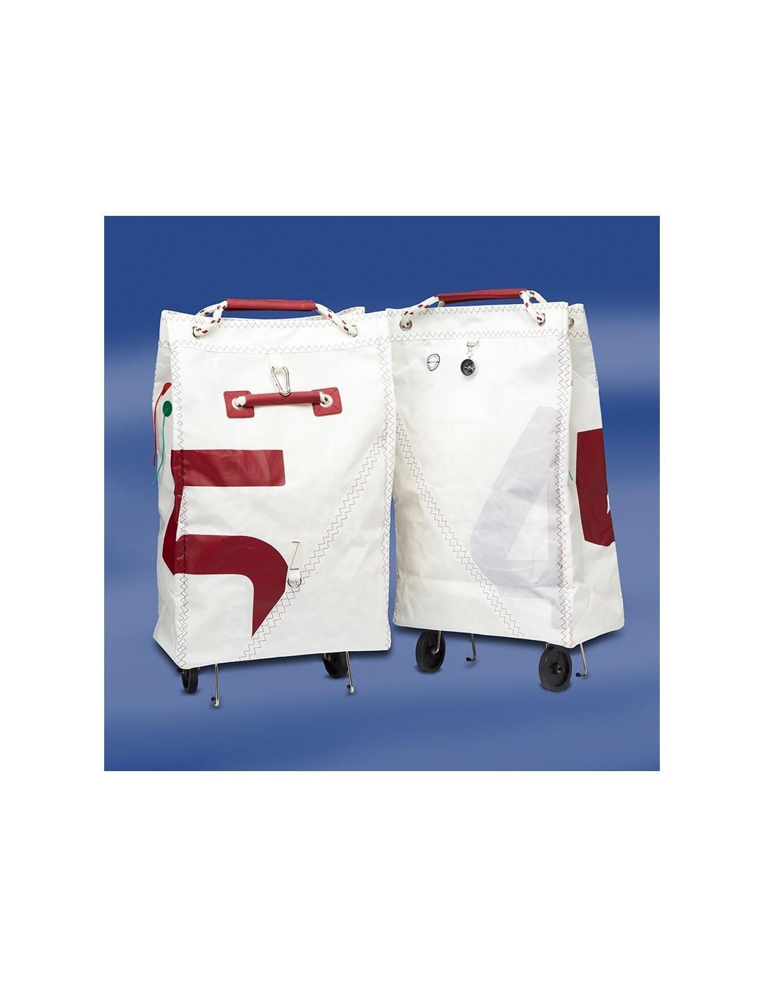 Opvouwbare Zeildoek Shopping Trolley - Sea King - Rood - Trend Marine - Zeildoek Tassen - TM1001.3