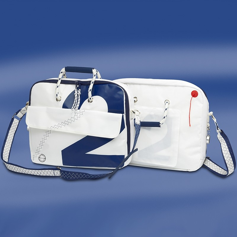 Zeildoek Laptoptas - Sea Officer - Navy - Trend Marine - Zeildoek Tassen - TM1004.1 - € 69,50