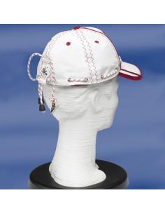 Zeildoek Cap Met Verstelbaar Koord En Klem - Baseballcap - Rood