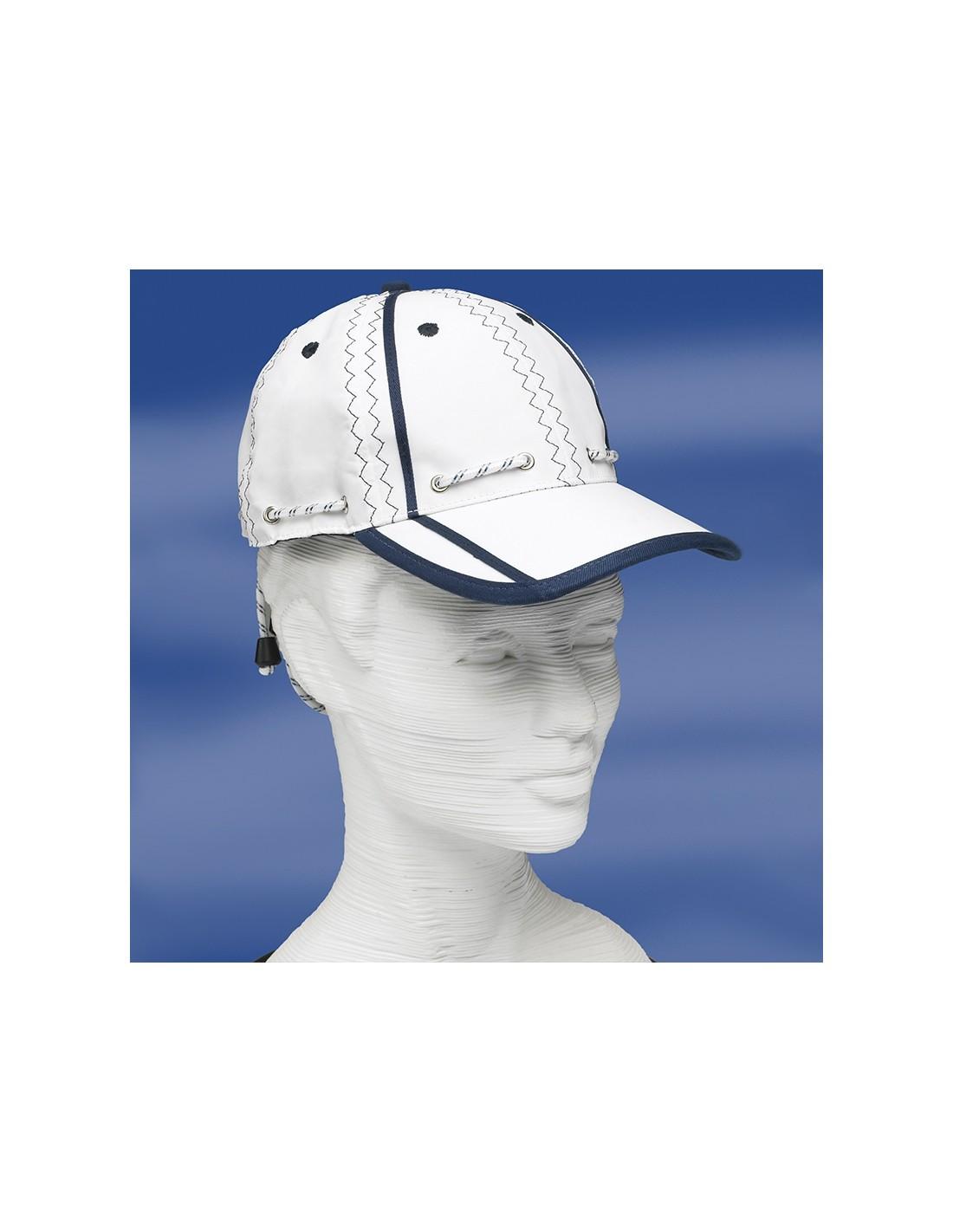 Zeildoek Cap Met Verstelbaar Koord En Klem - Baseballcap - Navy - Trend Marine - Zeildoek Tassen - TM2001.1
