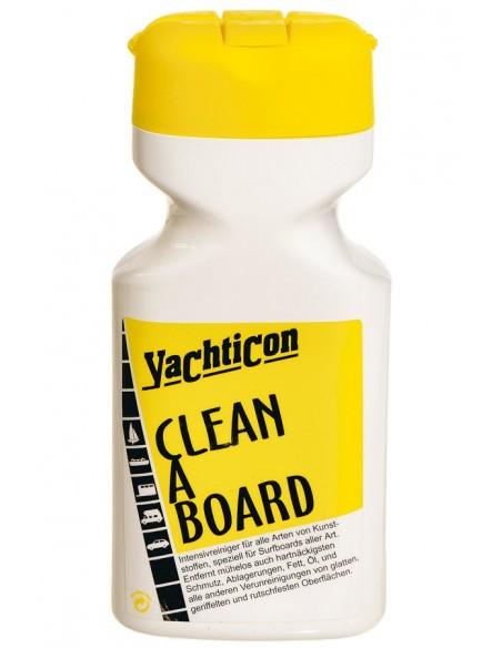<p>Het Clean A Board reinigingsmiddel van het merk Yachticon is een middel speciaal voor het goed schoonmaken van hardnekkig vuil van alle soorten kunststof. <br /><strong>Inhoud:</strong> 500 ml</p>