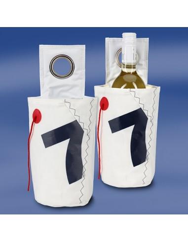 Zeildoek Wijnkoeler Met Ophangoog - Sea Cool - Navy - Trend Marine - Zeildoek Tassen - TM1024.1 - €15,00