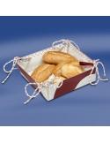 Zeildoek Broodmandje - Bread Basket - Rood