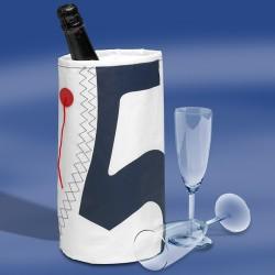 Zeildoek Wijnkoeler Voor 1 Fles - Wine Cooler - Navy - Trend Marine - Zeildoek Tassen - TM1016.1 - €11,00