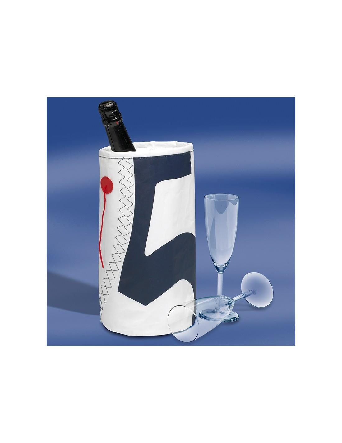 Zeildoek Wijnkoeler Voor 1 Fles - Wine Cooler - Navy - Trend Marine - Zeildoek Tassen - TM1016.1