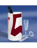 Zeildoek Wijnkoeler Voor 1 Fles - Wine Cooler - Rood - Trend Marine - Zeildoek Tassen - TM1016.3