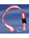 <p>Een stoer Sea Cord van het merk Trend Marine! Deze keycord of lanyard in het wit met rood valt goed op om je nek en is dan ook gemaakt voor de échte watersporter! Het sleutelkoord of keycord heeft een karabijnhaak en heeft daarnaast ook nog een kunststof veiligheidskoord. Het artikel is tevens ook nog eensscherp geprijsd!<br /><strong>Afmeting:</strong> breedte 2,5 cm <strong>Kleur:</strong> wit / navy</p>