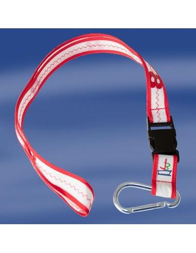 Sea Cord - Zeildoek Keycord / Lanyard - Rood - Trend Marine - Zeildoek Tassen - TM1066.3 - €5,95