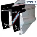 <p>De Ruddersafe Type 2 ook wel het roerei van columbus genoemd is een soort dubbelroer voor de buitenboordmotoren en hekaandrijvingen. De Ruddersafe geeft een zeer goede optimale manoeuvreerbaarheid en een zeer verbeterde koersstabiliteit bij geringe vaarsnelheden, werkt zowel vooruit als achteruit. Alles zegt het al het is een fantastische uitvinding! <br /><strong>Afmetingen:</strong> voor boten tot 6,5 m lengte</p>