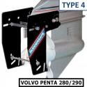 <p>De Ruddersafe Type 4 speciaal voor Volvo Penta 280/290 is een soort dubbelroer voor de buitenboordmotoren en hekaandrijvingen. De Ruddersafe zorgt voor een goede manoeuvreerbaarheid en een zeer verbeterde koersstabiliteit bij geringe vaarsnelheden. Alles zegt het al het is een fantastische uitvinding! Wordt geleverd met een beugel voor over de uitlaat. <br /><strong>Afmetingen:</strong> voor boten vanaf 8,5 m lengte</p>