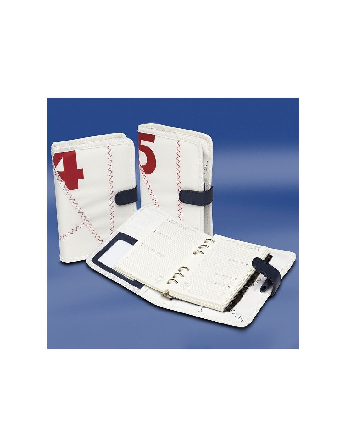 A5 Zeildoek Agenda - Sea Organizer - Rood - Trend Marine - Zeildoek Tassen - TM1050.3