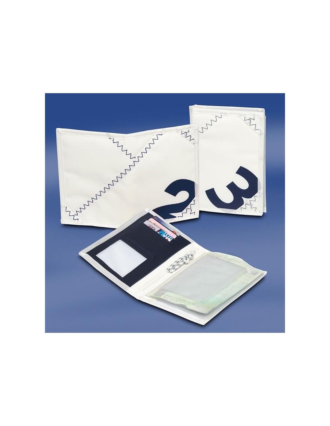 Zeildoek Rijbewijsmapje - Sea License Wallet - Navy