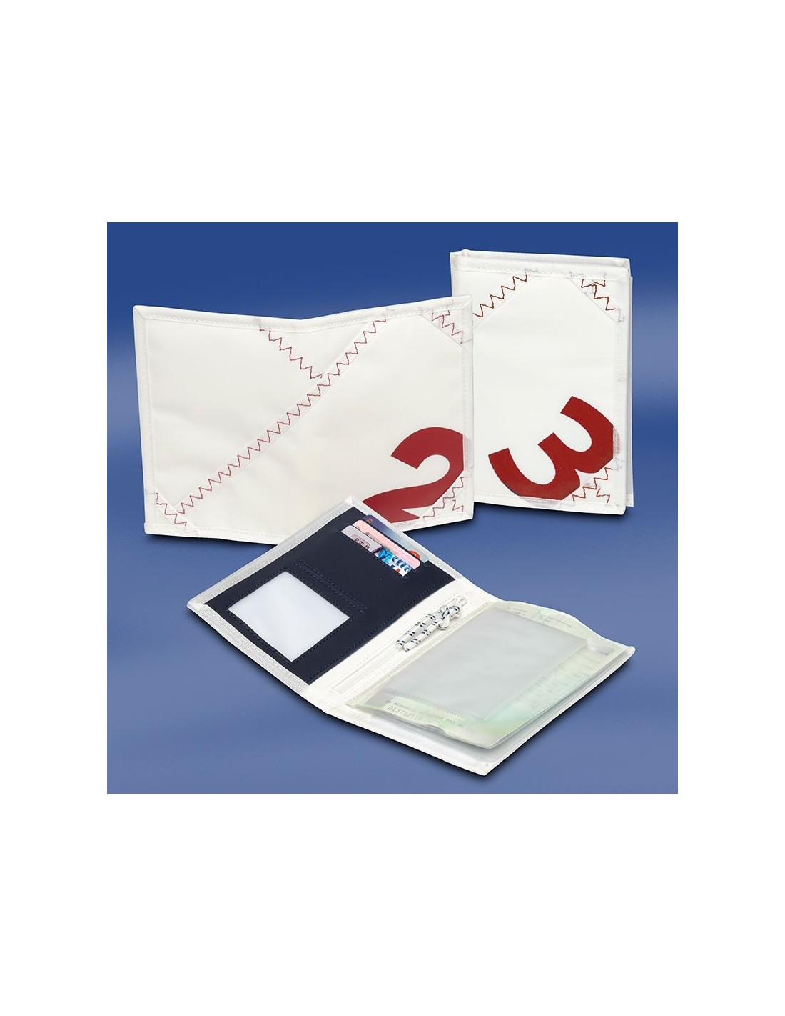 Zeildoek Rijbewijsmapje - Sea License Wallet - Rood