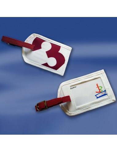 Zeildoek Kofferlabel - Sea Label - Rood - Trend Marine - Zeildoek Tassen - TM1065.3 - €3,60