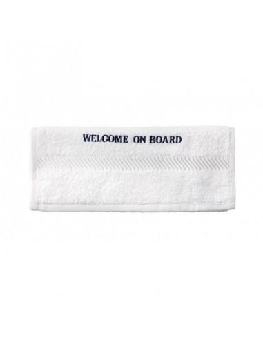 Gastendoekje - Wit - 30 x 50 cm - Welcome On Board - Textiel - 10149804 - €4,50