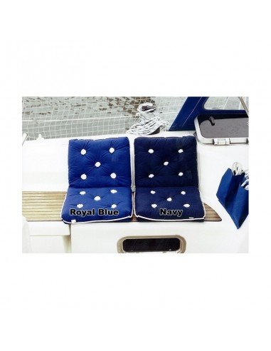 Kapok Kussen - Dubbel - Royal Blue - The Captain's Collection - Textiel - 47.1801 - €33,00
