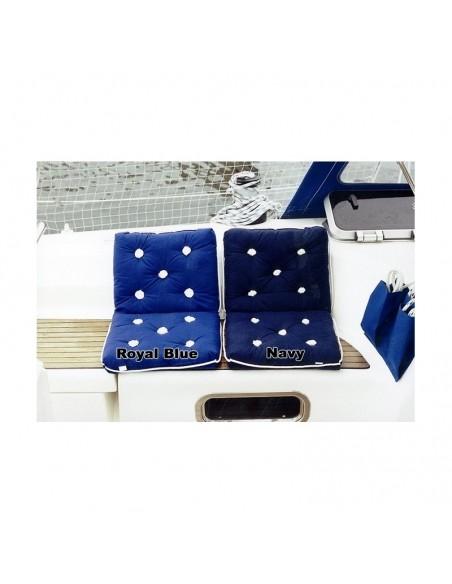 <p>Dit dubbele waterdichte kussen past bij elke inrichting door het stijlvolle uiterlijk. Het kussen kan op verschillende stoelen of banken worden gebruikt en hebben een mooi nautische uiterlijk door de kleur. Dit Kapok kussen van The Captain's Collection is waterdicht door de hoes van katoen met waterdichte laag. <br /><strong>Afmetingen:</strong> 410 x (2x) 360 x 90 mm <strong>Materiaal:</strong> katoen <strong>Kleur:</strong> royal blue</p>