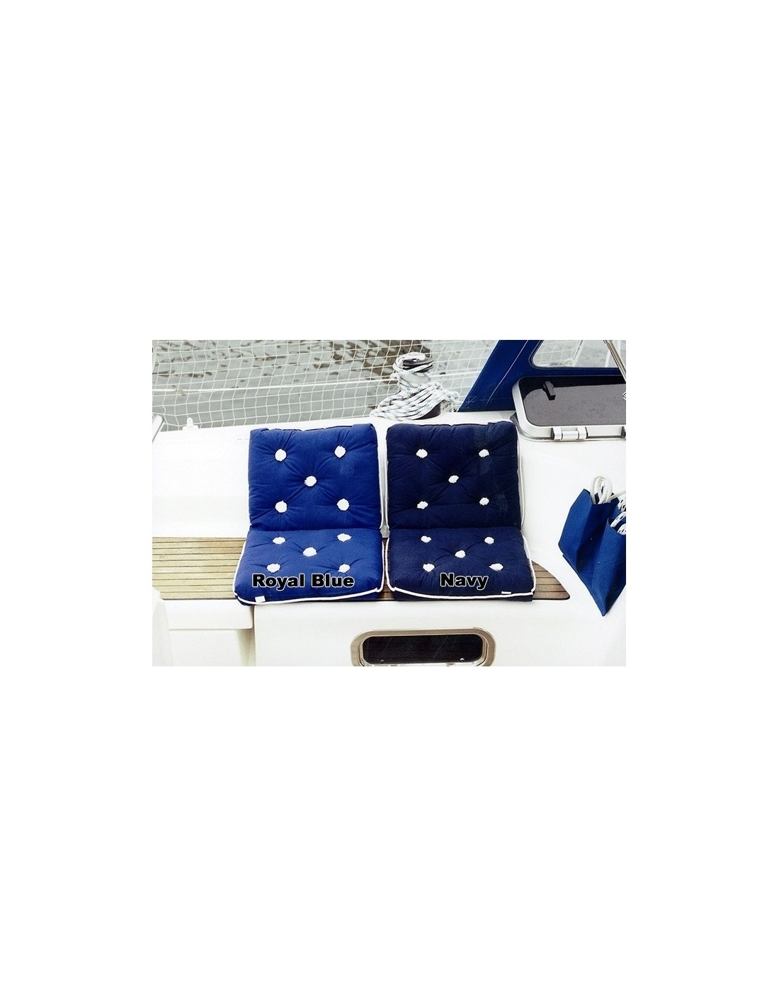Kapok Kussen - Dubbel - Royal Blue - The Captain's Collection - Textiel - 47.1801