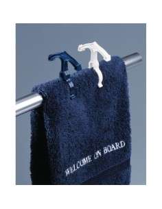 Railingknijpers - 5x Wit - 5x Blauw - Welcome On Board - Nautische Accessoires - 10219801 - € 8,95
