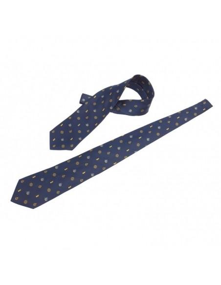 <p>Leuke en elegante zijde stropdas met nautisch vuurtoren patroon. Door de nautische kleuren en vormgeving past deze stropdas bij bijna elke gelegenheid. Daarbij is de stropdas gemaakt van zijde en behoord tot het merk The Captain's Collection. <br /><strong>Kleur:</strong> navy</p>