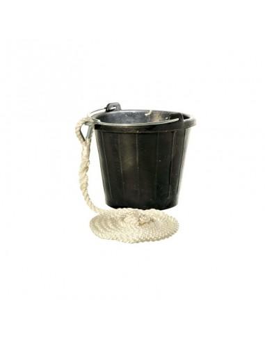 Rubberen Puts / Emmer - 8 Liter - Met 3 Meter Lijn - The Captain's Collection - Onderhoud - 32.4677.4765 - €19,98