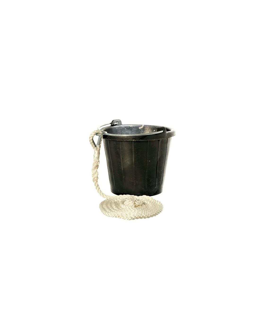 Rubberen Puts / Emmer - 8 Liter - Met 3 Meter Lijn - The Captain's Collection - Onderhoud - 32.4677.4765