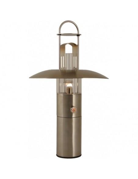 <p>Deze Petrolux olielamp is gemaakt van een ingenieus ontwerp wat ervoor zorgt dat de vlam niet gedoofd wordt door onstuimig en winderig weer, daarom is de olielamp ideaal voor zeilers! De Petrolux olielamp is van het merk Delite en bevat een oliecontainer van 420 ml inhoud wat zorgt voor ongeveer 16 uur brandtijd. <br /><strong>Afmetingen:</strong> 419 mm hoogte <strong>Materiaal:</strong> rvs</p>