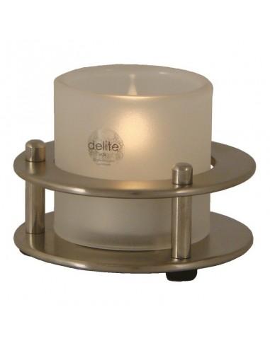 Porthole - Waxinelichthouder - Geborsteld RVS - Delite - Lampen - 603303 - €49,00