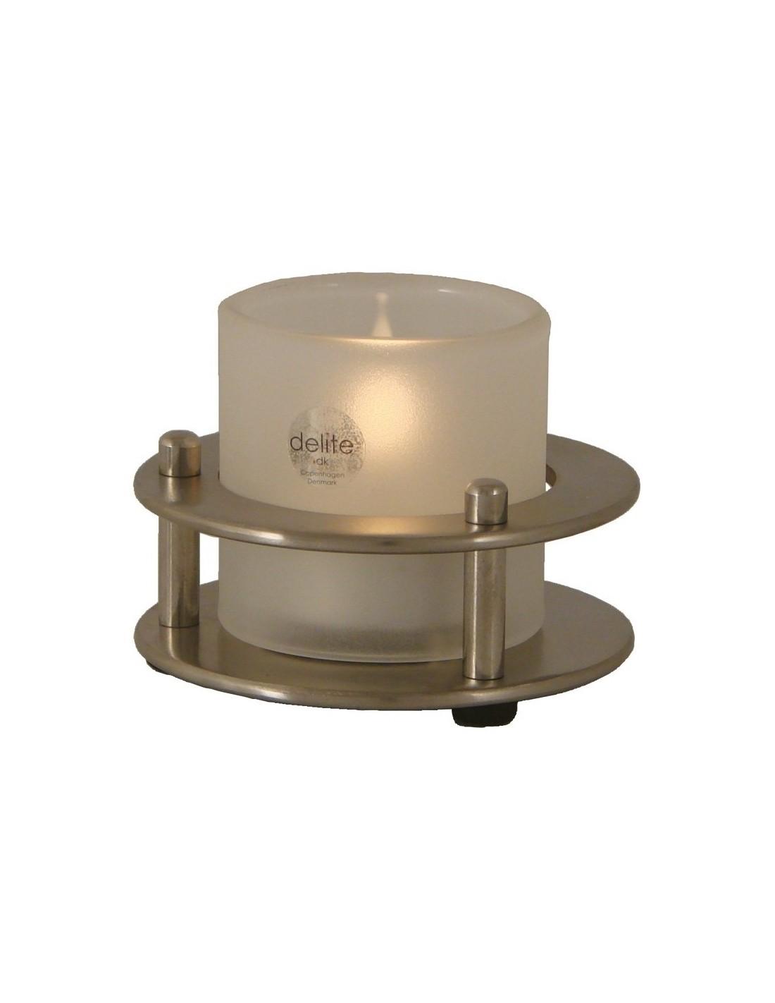 Porthole - Waxinelichthouder - Geborsteld RVS