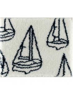 Clipper - Badmat Met Anti-Slip - Wit - 65 x 55 cm