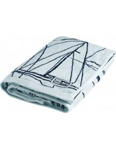 Clipper - Strandlaken Met Opblaasbaar Kussen - Wit - Marine Business - Textiel - 49001