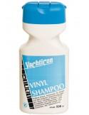 <p>Vinyl shampoo van Yachticon reinigt zonder enige moeite oppervlakken van vinyl, pvc, katoen, kunstleder, stormkleding, kussen etc. De vinyl shampoo verwijdert snel vuil, vet, olie en verwijdert ook nog eens vastzittend en hardnekkig vuil. De vinyl shampoo maakt verbleekte kleuren weer fris en schoon. <br /><strong>Inhoud:</strong> 500 ml</p>