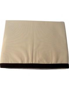 Waterproof - Tafelkleed - Ecru Met Bruine Rand - Klein - 115 x 100 cm - Marine Business - Textiel - 22431