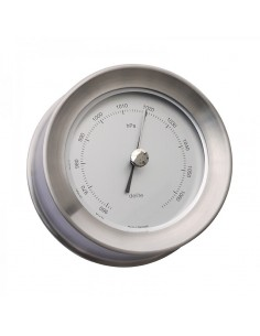 Zealand Barometer - Mat RVS - 110 mm - Delite - Scheepsinstrumenten - 630350