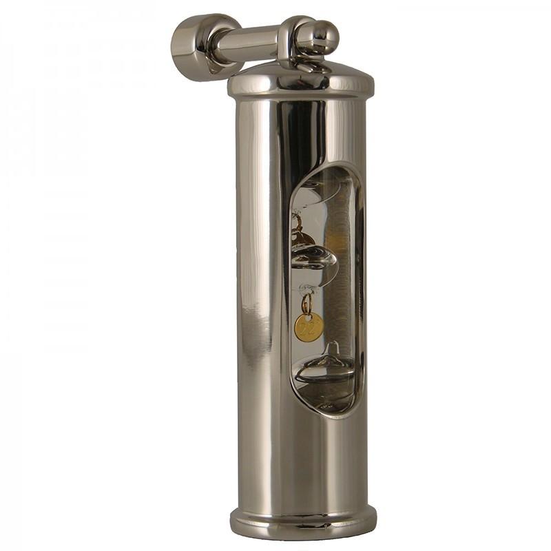 Galileiglas Met Ophanghaak - Glanzend RVS - Delite - Scheepsinstrumenten - 550704 - €105,00