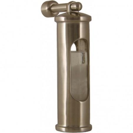 <p>In 1750 werd het stormglas al veel gebruikt op zeilschepen! Dit stormglas met ophanghaak is van het bekende merk Delite afkomstig uit Denemarken. Het stormglas werkt door middel van kristalliseren van de vloeistof, daardoor kun je zien dat er heftige weersomslagen aankomen! Verder is het stormglas met ophanghaak gemaakt van geborsteld rvs. <br /><strong>Afmetingen: </strong>145 mm <strong>Materiaal:</strong> geborsteld rvs</p>