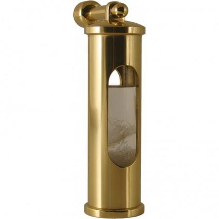 <p>Dit strak ontworpen stormglas met ophanghaak van het elegante merk Delite, is een unieke waarschuwer voor heftige weersomslagen! Het stormglas werkt door middel van kristalliseren van de vloeistof. Het stormglas werd voor het eerst gebruikt in ca. 1750 op zeilschepen en is zeer bijzonder, zowel functioneel als decoratief! <br /><strong>Afmetingen: </strong>145 mm <strong>Materiaal:</strong> messing</p>