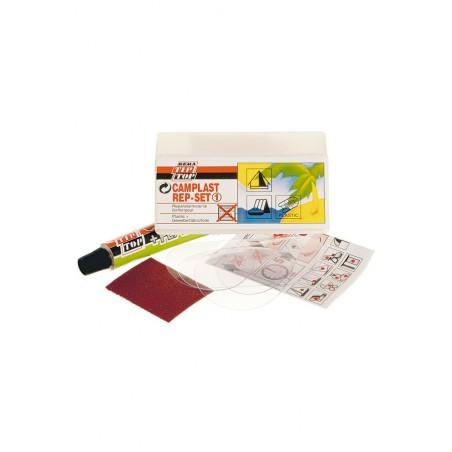 <p>De opblaasbare boot en rubberboot reparatieset is geschikt voor artikelen die uit stof, kunstleer en zacht pvc met stoffen deklaag te herstellen. Ideaal te gebruiken voor lichtgewicht-rubberboten, luchtbedden, plastic dieren, waterballen , etc. <br /><br /> inhoud: <br />2x delen van Ø 35 mm <br />1x deel van Ø 45 mm <br />1x deel van 73 x 78 mm <br />1x tube lijm 6 gr<br />instructies</p>
