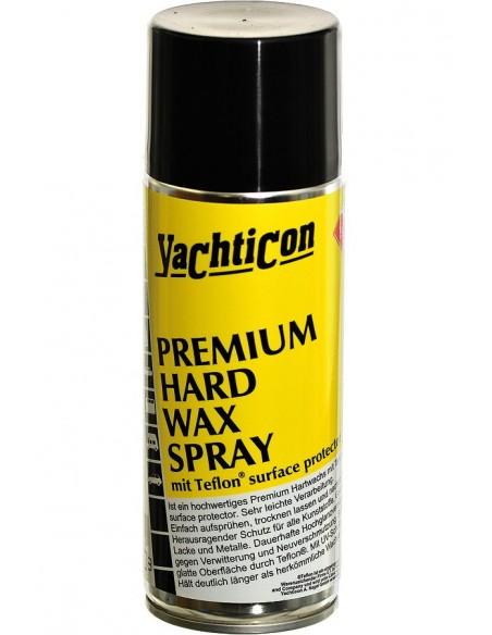 <p>Deze Premium Hard Wax spray met teflon van Yachticon voorkomt alle aanslag aan de onderzijde van het schip, waardoor het schip sneller door het water glijd. De premium was spray is geschikt voor alle verf, kunststof en gelcoats. Het product is makkelijk te gebruiken, maakt het oppervlak super glad en houd langer dan de meeste wassoorten. <br /><strong>Inhoud:</strong> 400 ml</p>