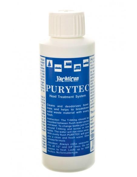 """<p>Navulling voor de Purytec toilet gel spoeling van Yachticon. Dit middel werkt tegen ongewenste aanslag, geur en kalk en geeft een frisse geur na elke spoeling. <br /><strong>Inhoud:</strong> 100 ml (is genoeg voor ca. 400 spoelingen) <br /><br /><strong>LET OP: Dit artikel bevat <span style=""""text-decoration: underline;"""">alleen</span> de navulling en geen T-stuk! Zie hiervoorde complete set. (Referentie: 06.0534)</strong></p>"""