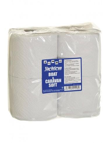 Boot En Caravan - Soft Toilet Papier - Snel Afbreekbaar - 4 Rollen - Yachticon - Onderhoud - 06.1458.00 - €4,95