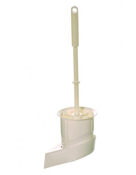 <p>Deze toilet borstel met wandhouder is ideaal voor op jouw schip of caravan! De houder is gemakkelijk te monteren met schroeven. <br /><strong>Afmetingen:</strong> 110 x 95 x 150 mm (lengte van de borstel is 370 mm) <strong>Kleur:</strong> wit</p>