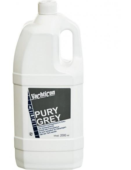 <p>Pury Grey van Yachticon is speciaal voor het reinigen van de grijze vuilwatertank. Deze helpt de tank schoon te houden en stopt nare geurtjes. <br /><strong>Inhoud:</strong> 2 liter</p>