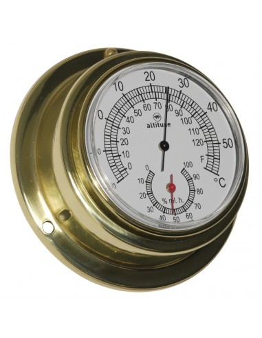 Thermometer / Hygrometer - 95 mm - Altitude - Scheepsinstrumenten - 842 TH - € 59,00