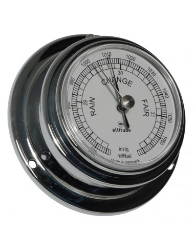 Barometer - Chroom - 95 mm - Engels - Altitude - Scheepsinstrumenten - 843 B UK - € 59,00