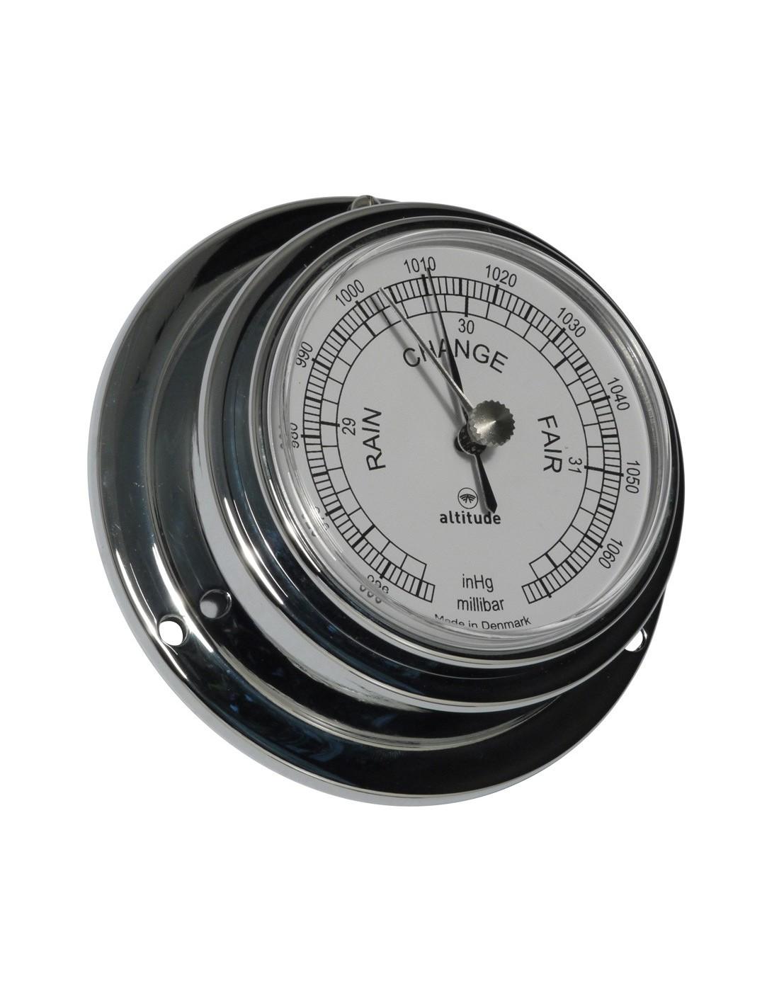 Barometer - Chroom - 95 mm - Engels