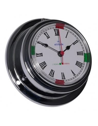 Quartz Klok - Chroom - 95 mm - Radiostilte - Altitude - Scheepsinstrumenten - 843 CZ - €59,00