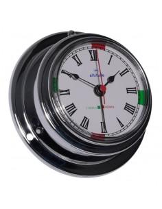 Quartz Klok - Chroom - 95 mm - Radiostilte & Alarm